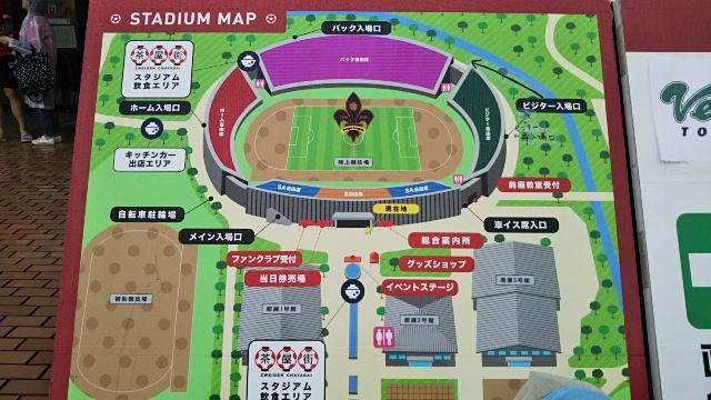西部緑地公園陸上競技場の地図
