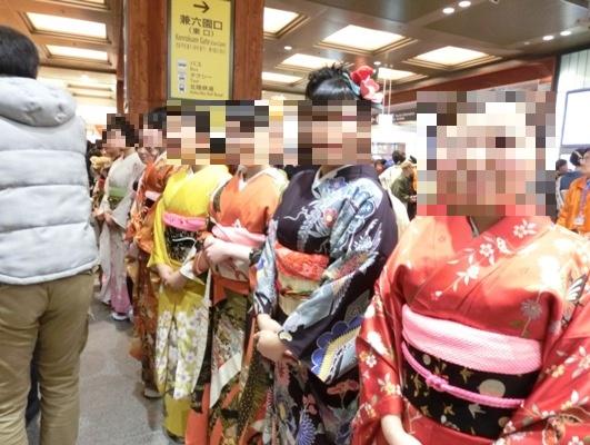 金沢駅お出迎えの人々